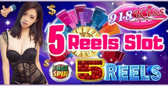 5 Reel Slots At 918Kiss Casino